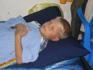 Bei über 40°C Fieber habe ich mich ganz schlapp gefühlt. Gott sei Dank, ging´s mir bald besser!