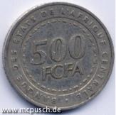 500 F CFA - Zahl